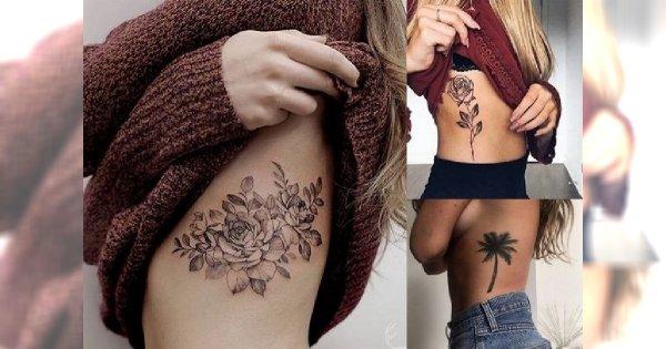 Tatuaż na żebrach - 30 pięknych wzorów, które robią niesamowite wrażenie!