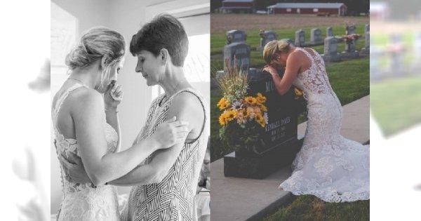 """Pożegnała ukochanego w dniu ślubu na CMENTARZU! Oto zdjęcia z tej niesłychanej """"ceremonii"""""""