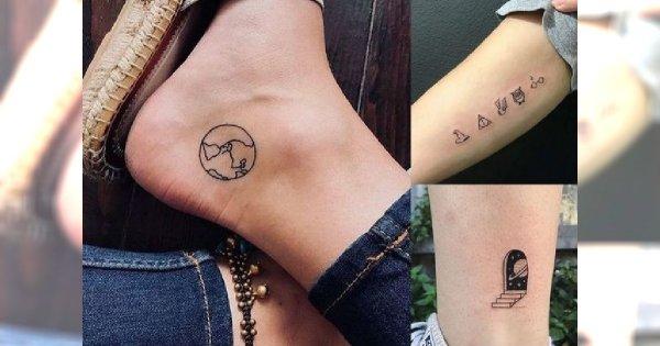 Small tattoos - 30 pomysłowych propozycji na mikrotatuaże dla kobiet