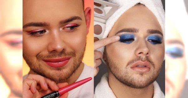 Makijaż to jego druga skóra! Poznajcie Beauty Boya, mężczyznę, który bez podkładu nie wyjdzie z domu