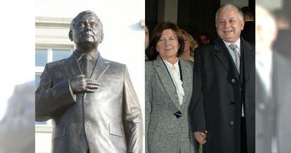 W Warszawie stanął pomnik Lecha Kaczyńskiego. Internauci zwrócili uwagę na coś bardzo niepokojącego