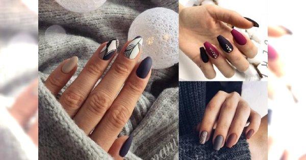 Matowy manicure w 25 odsłonach - galeria ślicznych stylizacji