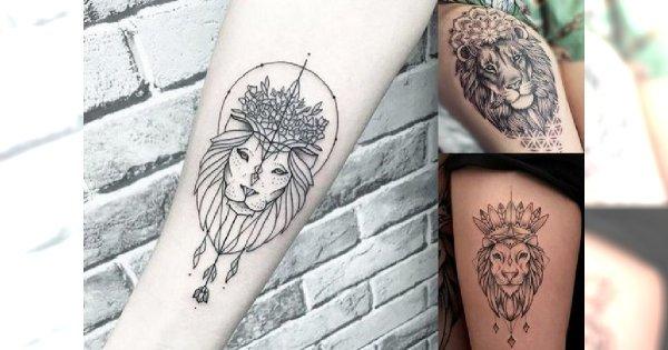 20 Pomysłów Na Tatuaż Z Motywem Lwa Galeria Kobiecych Wzorów