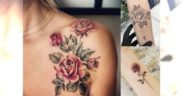 Tatuaż Róża Galeria ślicznych I Unikatowych Wzorów Dla Kobiet