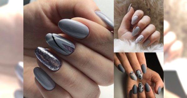 Szary Manicure W ślicznych Odsłonach Trendy 2019