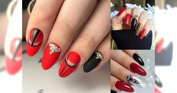 Czerwony manicure - galeria niezwykłych i oryginalnych stylizacji