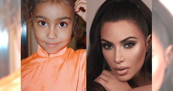 Kim Kardashian WYSZCZUPLIŁA na zdjęciu pięcioletnią córkę! Te zdjęcia nie kłamią!