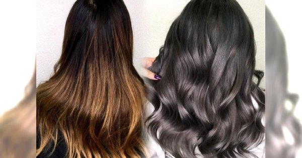 Modny kolor włosów dla brunetek: CHARCOAL LAVENDER. Jasna karnacja go pokocha!