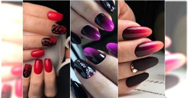 Najpiękniejszy manicure jesieni: ciemne ombre na paznokciach. 25 HOT wzorów do wypróbowania!