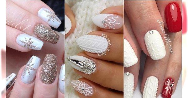 Paznokcie Z Zimowymi Wzorami Sweterki śnieżynki Mikołaje Modne