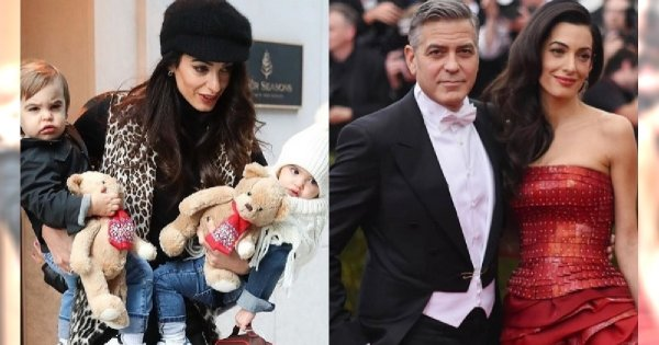 Amal Clooney przyłapana z dziećmi na rękach! Zobaczcie, jak wyrosły te bliźnięta! Podobne do taty czy do mamy?