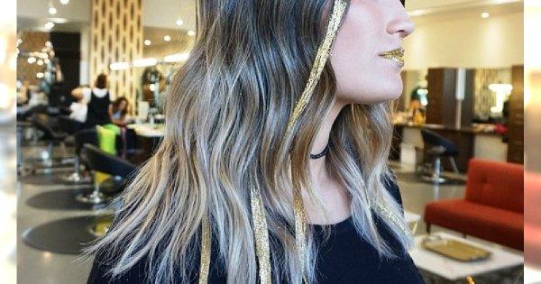 Brokatowe pasemka - hit wśród sylwestrowych fryzur na Instagramie! Zobaczcie, jak je zrobić