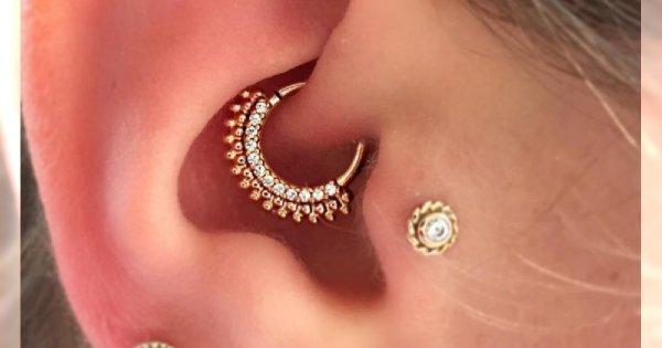 Daith - nowy, modny piercing ucha. Co powiecie na kolczyk w tym miejscu?