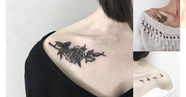 20 pomysłów na tatuaż w okolicy obojczyka - galeria kobiecych wzorów