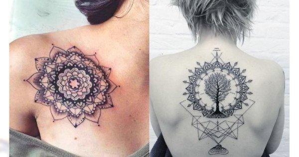 Tatuaże mandala - 20 magicznych wzorów dla kobiet