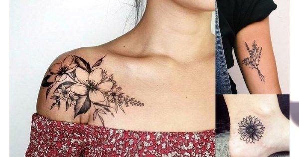 Tatuaże Kwiaty Galeria Niesamowitych Wzorów Które Skradną