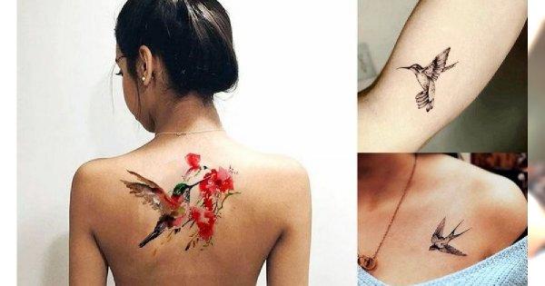 Bird tattoos - 19 ślicznych i unikatowych wzorów dla kobiet