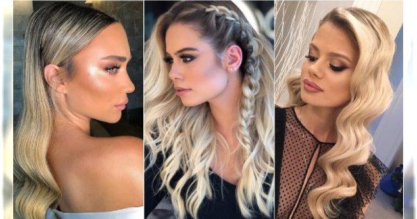 Fryzury na sylwestra 2018: rozpuszczone włosy i modne półupięcia
