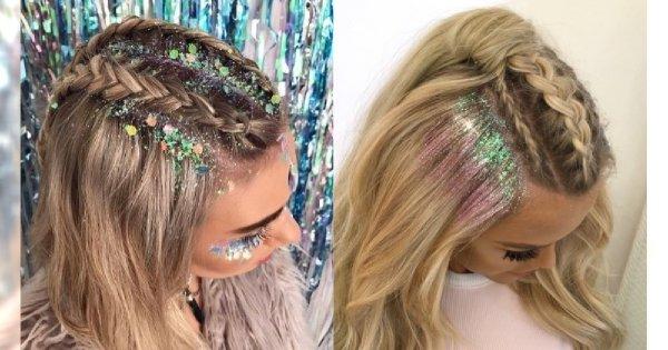 Fryzurowy HIT sylwestra: włosy z brokatem. Wypróbujcie najgorętszy trend z Instagrama!