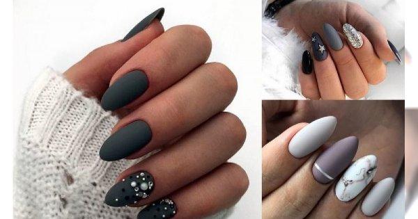 Szary manicure w najbardziej stylowych odsłonach - trendy 2019
