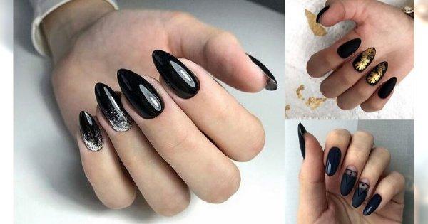 Czarny manicure - galeria eleganckich i niebanalnych zdobień