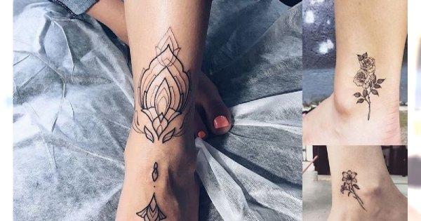 Tatuaż w okolicy kostki - galeria najpiękniejszych wzorów dla kobiet