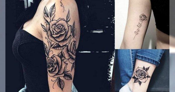Tatuaż róża - 30 nietuzinkowych i ultrakobiecych wzorów