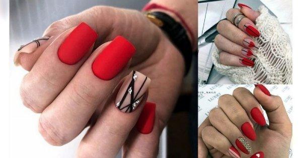 Czerwony manicure - 20 najlepszych pomysłów z sieci