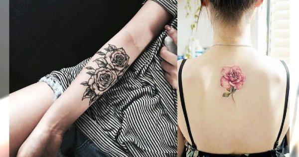 Tatuaż Róża Galeria ślicznych I Oryginalnych Wzorów Dla Kobiet