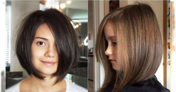 Modne fryzury dla dziewczynek 5 lat i więcej. Najlepsze cięcia dla średnich włosów