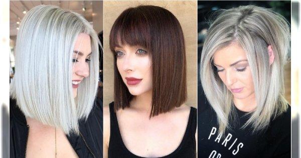 Modne Fryzury średnie 2019 Cięcia Włosów Do Ramion Dla