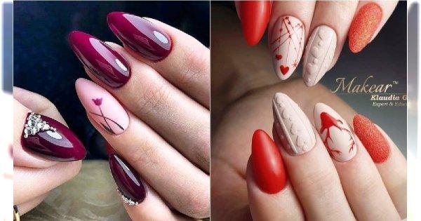9a1c28a1a1 Manicure na walentynki - najpiękniejsze wzory paznokci na Dzień Zakochanych