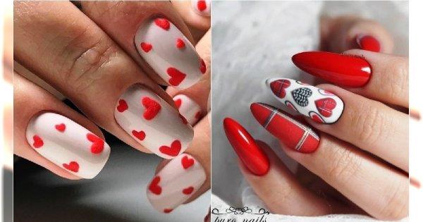 Manicure Na Walentynki 25 Uroczych Wzorów Na święto Zakochanych