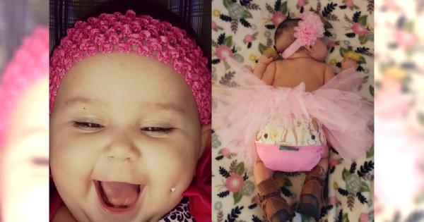 Przekuła POLICZEK swojej 6-miesięcznej córeczce! Zdjęcie jest SZOKUJĄCE!!
