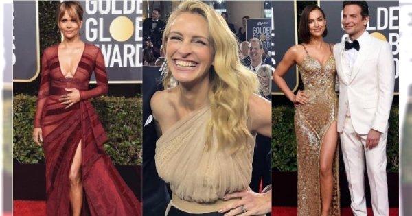 Złote Globy 2019: 10 NAJPIĘKNIEJSZYCH kreacji gwiazd! Najbardziej zaskoczyła Julia Roberts!