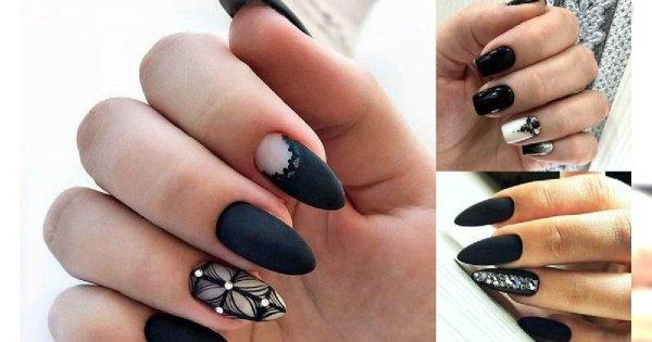 Czarny manicure - galeria eleganckich i stylowych stylizacji