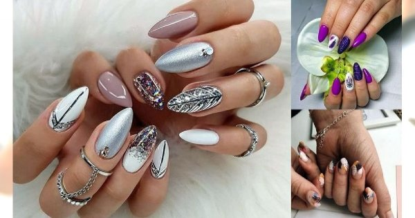 Manicure z piórkiem - 18 oryginalnych i kobiecych zdobień