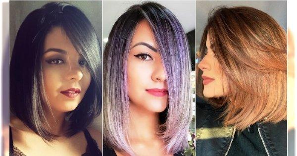 Fryzury średnie 2019 - nowe trendy dla włosów do ramion