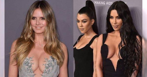 Gala mody prawie na GOLASA? Kim Kardashian z niewiarygodnym dekoltem i bez butów, a towarzyszyły jej nie mniej rozebrane koleżanki...