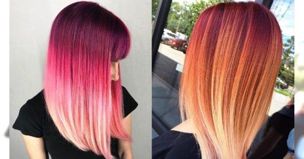 Nowe trendy w koloryzacji włosów 2019: TRÓJKOLOROWE OMBRE. Co powiecie na taki efekt?