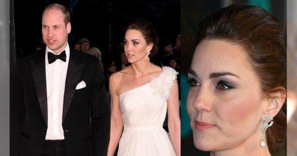 Księżna Kate w olśniewającej białej kreacji na BAFTA 2019! Media zakochane: Wygląda jak panna młoda