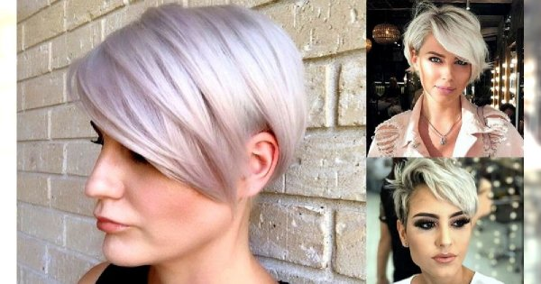 Krótkie fryzury z grzywką na bok - galeria wiosennych odsłon