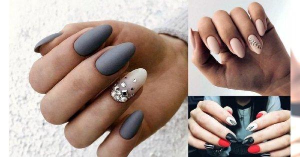 Matowy manicure - 19 niezwykłych zdobień, które robią wrażenie