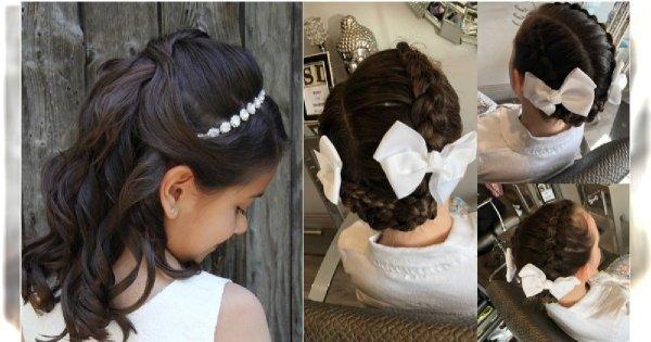 Fryzury na komunię 2019 - pomysły na fryzury komunijne dla dziewczynek