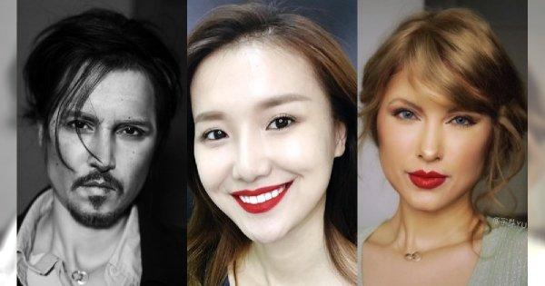 Ta mistrzyni make-upu jest jak kameleon! Z pomocą makijażu potrafi zamienić się w KAŻDEGO celebrytę! Żywe KOPIE!