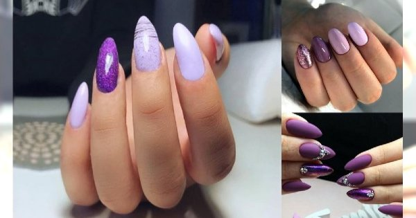 Fioletowy manicure ponownie na topie - 15 niebanalnych stylizacji