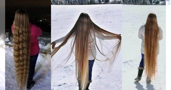 Polska Roszpunka ma włosy aż do kostek i od 5 lat nie podcinała końcówek. Z tyłu piękne. A przodu?