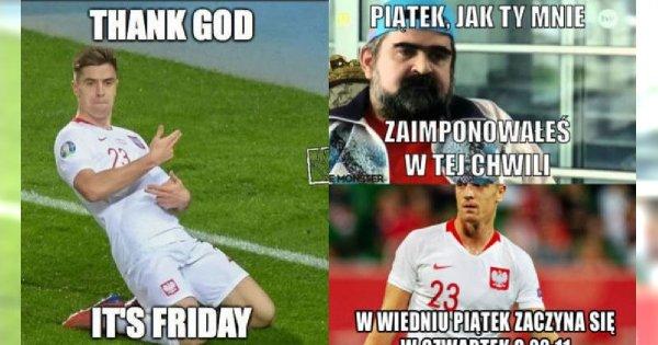 Polska wygrała z Austrią! Internauci świętują tworząc MEMY! Krzysztof Piątek bohaterem