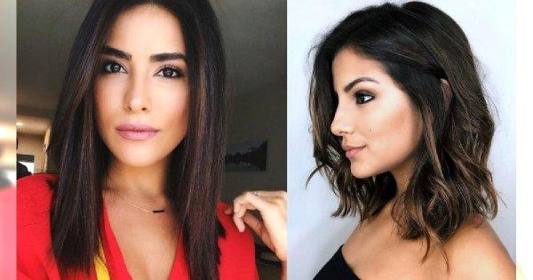 Galeria półdługich fryzur dla brunetek i szatynek - trendy wiosna/lato 2019