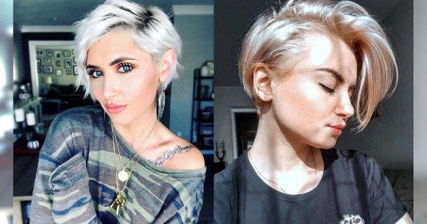 Fryzury krótkie - galeria zjawiskowych cięć dla kobiet o jasnych włosach!